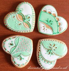 Gingerbread Wedding Favour Heart Cookies                                                                                                                                                     More