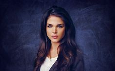 Download wallpapers Marie Avgeropoulos, Canadian actress, portrait, makeup, brunette, beautiful woman