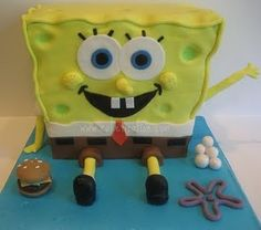 Step by Step Sponge Bob Squarepants cake....Sammy wants this cake for his birthday!