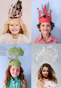 Insane paper hats by Stuart McLachlin.