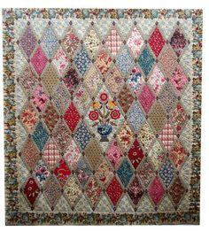 Jane-Austen-Quilt-whole by QOB, via Flickr