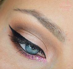 'Barbie Glamour' look by Milanka using Makeup Geek's Bada Bing, Cinderella, Creme Brulee, Mocha, Shimma Shimma, Vanilla Bean, and Simply Marlena eyeshadows.