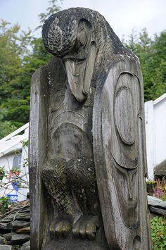 Raven totem in Ketchikan by Matthew Wild
