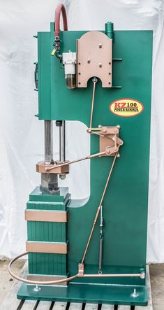 The KZ100 Power Hammer operates just like a steam hammer. We use a mechanical linkage and a directional valve along with compressed air to operate and control the hammer. There are no solenoids valves or limit switches.