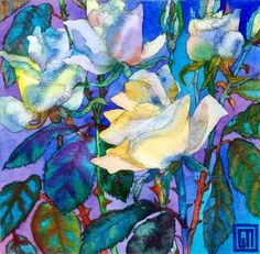 Vibrant and beautiful floral and landscape prints & original works by Sofia Perina-Miller - can buy with PayPal from her website - GORGEOUS art!