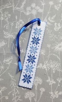 Cross stitched bookmark/ Auseklis - Latvian traditional folk symbol/ Hand made bookmark/ Blue Cross Stitching, Cross Stitch Embroidery, Cross Stitch Patterns, Cross Stitch Bookmarks, Dmc Floss, Pixel Art, Needlework, Diy And Crafts, Symbols