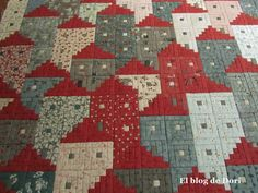 questions, answers and log cabin houses SAL Seminole Patchwork, Patchwork Quilt, Patchwork Patterns, Édredons Cabin Log, Log Cabin Quilts, Log Cabins, Quilting Tutorials, Quilting Projects, Quilting Designs