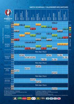 calendrier matchs UEFA EURO 2016