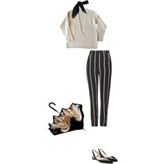 what id wear today nov 22nd by emiliahawk on Polyvore featuring Topshop, Paul Andrew, TC Fine Intimates and Maison Margiela