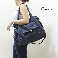 Cute canvas bag.  Good for dancers or as a work out bag.