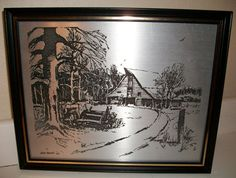 Vintage Art Signed Metal Etchings circa 1969 by SusieSellsVintage, $59.50