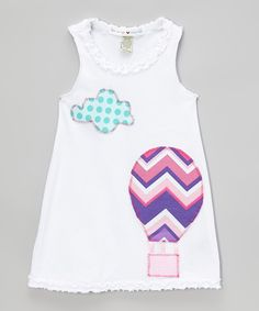 Take a look at the mini scraps White Zigzag Hot Air Balloon Tank Dress - Infant, Toddler & Girls on #zulily today!
