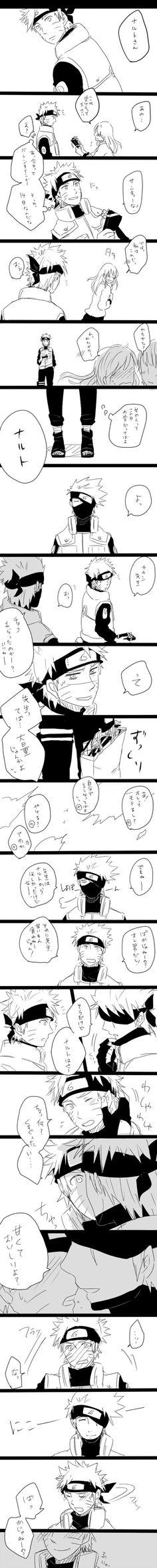 Naruto and Kakashi | KakaNaru | Gosh!! Kakashi's smile~ *3*