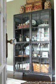 Love This Metal Gl Front Cabinet Perfect For Storage And Display