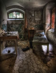 Abandoned Beelitz Heilstatten Hospital in Brandenburg, Germany