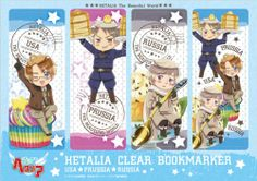 The Beautiful World Hetalia Hetalia Clear Bookmark 3 (japan import) (all)