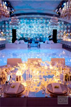 white on white with ice blue lighting