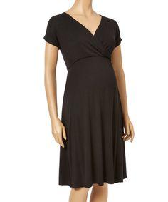 Look at this #zulilyfind! Black Maternity Empire-Waist Dress - Plus Too #zulilyfinds