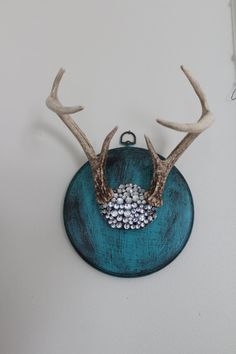 SOLD Mounted Deer Antlers and Skull Covered in by SouthernREbelle, $85.00