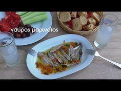 Γαύρος μαρινάτος (video) - cretangastronomy.gr Sea Food, Asparagus, Tacos, Food And Drink, Mexican, Vegetables, Ethnic Recipes, Seafood, Veggies