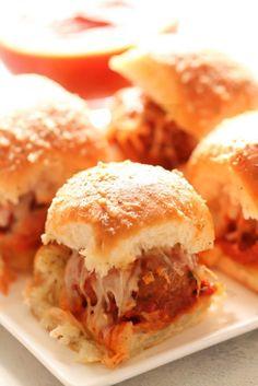 Cheesy Meatballs Sliders – Six Sisters' Stuff