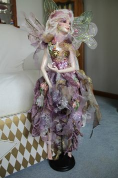 "Katherine's Collection 30"" Beatrice Fairy Doll Wayne Kleski w Box Certificate | eBay  lovely grey pale  ooaak"