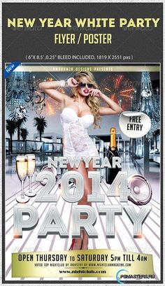 GraphicRiver New Year White Gentlemen Night Club Party