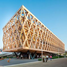 World Architecture Community News - Undurraga Devés Arquitects designed a fully-structural framework for Chilean Pavilion - Expo Milano Timber Architecture, Architecture Concept Drawings, Timber Buildings, Pavilion Architecture, Amazing Architecture, Architecture Details, Sustainable Architecture, Residential Architecture, Contemporary Architecture