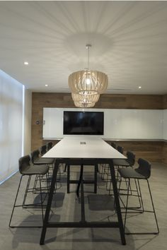 Open Plan Meeting Space with TV and White Board for Collaboration