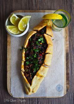 Turkish pide pizza recipe @ Not Quite Nigella - Food - French Pizza Recipes, Healthy Recipes, Healthy Food, Avocado Recipes, Turkish Pizza, Spiced Beef, Eastern Cuisine, Turkish Recipes, Romanian Recipes