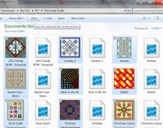 Electric Quilt 7 Organization with Folders and Exported Images, by Sandi Walton of Piecemeal Quilts