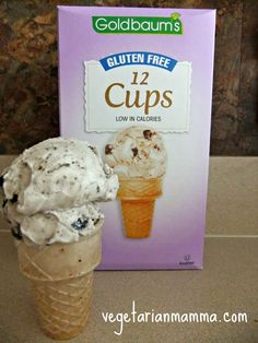 We were very excited to find great tasting gluten free ice cream cups!  They taste better than their counterparts!  They also fit our needs to be dairy free, peanut and tree nut free! Thanks Goldbaums!