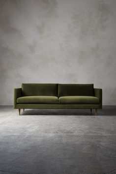The TIVOLI Three-Seater Sofa - in Fern Velvet - Swooneditions.com