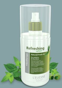 L'eudine Refreshing Splash Natural Air Eucalyptus and Menthol, 4 fl oz . by L'eudine. $19.99. New Original L'eudine Refreshing Splash Natural Air Eucalyptus and Menthol Benefits: -Releases quickly airway blocked by colds and flu. - It has refreshing and comforting properties to clear the sinuses and make breathing easier. - Facilitates sleep. - Effective relief of colds. Suggested Use: - Highly recommended for children because the airways naturally clears. -Can be used fo...