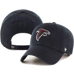 d640c15e3cc  47 Brand Atlanta Falcons Clean Up Adjustable Hat (Black)