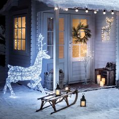 48 Warm White LED Silver Dollar Garland