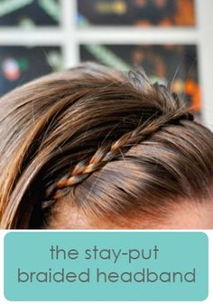 stay put headband...never thought to do it this way