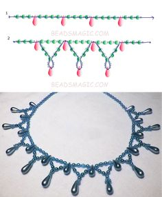 Free pattern for necklace Tahoe | Beads Magic