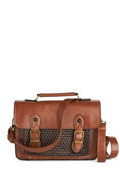 Grad to be Here Bag. When your favorite grad school professor asks you to be a teaching assistant next semester, you cant say yes fast enough! #brown #modcloth