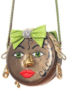 Ines Figaredo Big Girl Face Handcrafted Bag