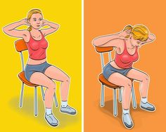 7Ejercicios para unabdomen plano yuna cintura deavispa, que puedes hacer sin levantarte delasilla 7 Workout, Waist Workout, Chair Workout, Tummy Workout, Workout Routines, Arm Workouts At Home, Fun Workouts, Exercise While Sitting, Detox Cleanse For Bloating