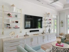 The 50+ Best Entertainment Center Ideas - Home and Design - Next Luxury Neutral Living Room Colors, Beige Living Rooms, Paint Colors For Living Room, Living Tv, New Living Room, Living Room Entertainment Center, Entertainment Area, Living Room Tv Unit Designs, Family Room