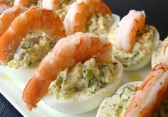 These Shrimp Deviled Eggs are an easy and delicious #spring #appetizer