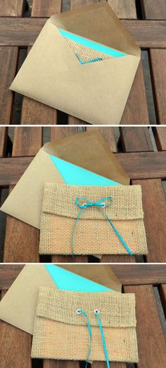 RUSTIC BURLAP  Wedding Invitation--Trifold--Handmade - DEPOSIT. $100.00, via Etsy.