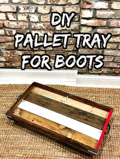 DIY Pallet Tray for Boots - 150 Best DIY Pallet Projects and Pallet Furniture Crafts - Page 63 of 75 - DIY & Crafts