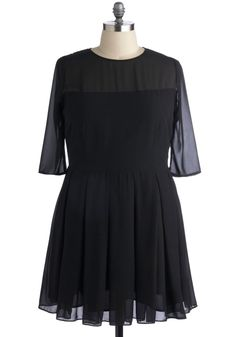 Foreshadowing Fame Dress in Plus Size, #ModCloth so pretty!