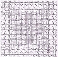 Crochet Tunic Pattern, Vintage Crochet Patterns, Granny Square Crochet Pattern, Crochet Blocks, Crochet Diagram, Crochet Chart, Crochet Squares, Crochet Granny, Crochet Motif