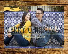 Custom Photo Christmas Card / Digital File / by BlissfulSoiree