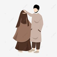 Islamic Cartoon, Valentines Day Couple, Couple Illustration, Couple Cartoon, Cartoon Characters, Fictional Characters, Geometric Background, Muslim Couples, Niqab