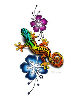 Sharon E. Lauzon: Sketchbook: Lizard Tattoo Design